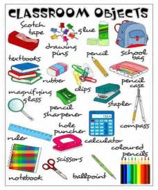 worksheet verbs classroom objects vocabulary