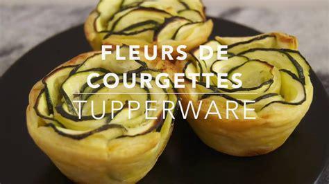 recette tupperware fleurs de courgettes