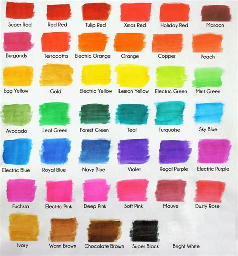 food coloring color chart americolor color swatch chart royal icing color in 2019