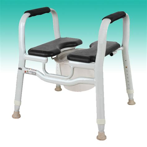 shower chair split seat chair over toilet aid commode