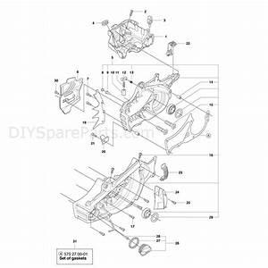 Husqvarna 560xp Chainsaw  2011  Parts Diagram  Crankcase