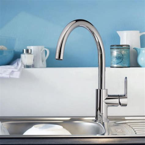 grohe kitchen sink taps grohe bauedge kitchen sink mixer tap single lever galaxy 4103