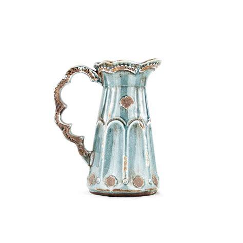 large blue pottery pitcher platt designs