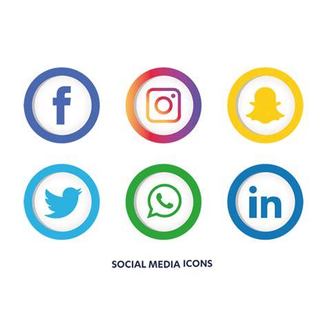 Free Social Media Icons Social Media Icons Set Social Media Icon Png And Vector