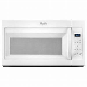 Whirlpool 1 7 Cu  Ft  Over The Range Microwave In White