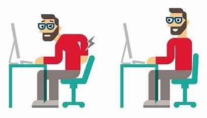 Posture Clipart Proper Sit Transparent Exercise Corrector