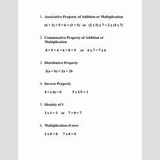 1st Semester 7th Grade Math Notes To Memorize