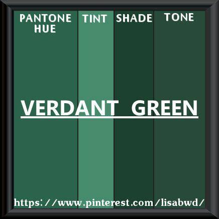 Palette Green All Seasons by Pantone Seasonal Color Swatch Verdant Green Green Mix