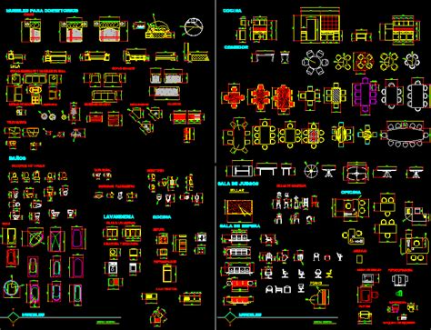 furniture miscellaneous  autocad  cad   mb bibliocad