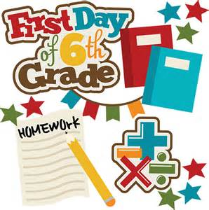 6th-Grade First Day of School Clip Art