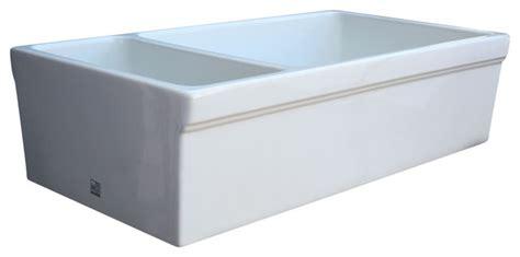white whitehaus whqdb542 double bowl fireclay 36