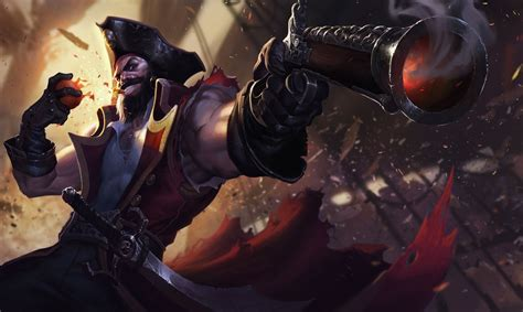 Gangplank Animated Wallpaper - artwork concept gun sword gangplank