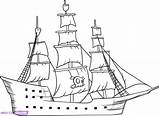 Ship Drawing Cargo Pirate Getdrawings sketch template
