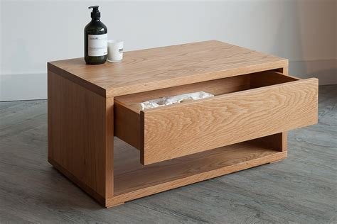 37087 end table bed black lotus oak low bedside drawer unit bed
