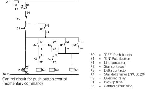 typical circuit diagram  star delta starter plc plc