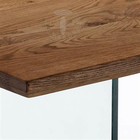 tavolo scrivania tavolo scrivania design moderno in legno massello e vetro