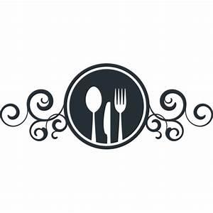 Couvert De Cuisine : stickers enseigne avec couteau fourchette et cuill re pour cuisine ~ Teatrodelosmanantiales.com Idées de Décoration