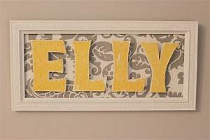 wood letters in frame diy crafts pinterest With framed wooden letters