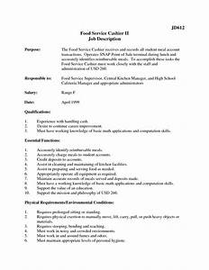 12 cashier job description for resume recentresumescom With cashier job description resume