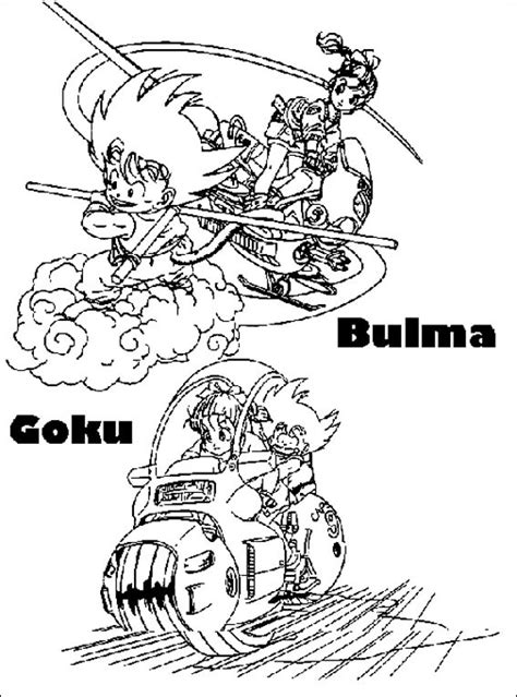 dragon ball  part  coloring pages cartoons   years kids handcraftguide