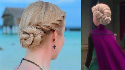 recogido inspirado en la princesa elsa de frozen