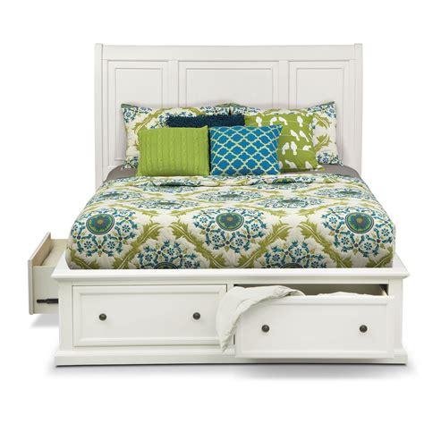 storage bed white hanover storage bed white value city furniture