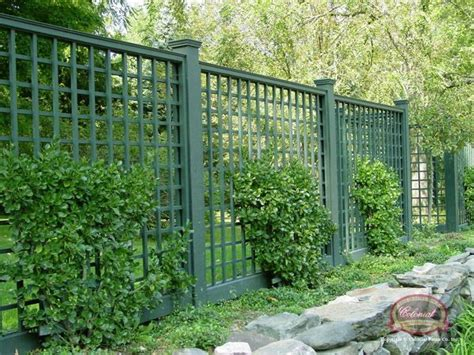 blue stone patio lattice fencing  stone wall patios