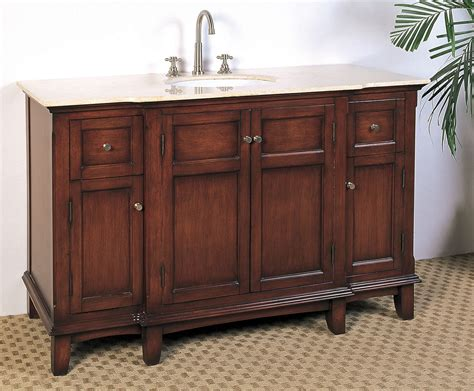 Bathroom Vanities Single Sink by 53 Inch Single Sink Bathroom Vanity In Bathroom Vanities