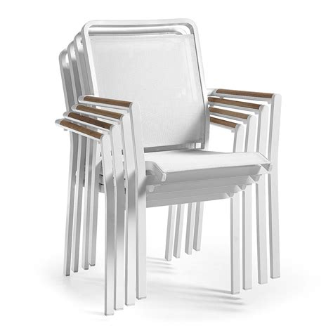 sedie in alluminio per esterno sedia da giardino in alluminio e textilene luke