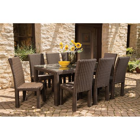 lloyd flanders mesa wicker 9 patio dining set lf