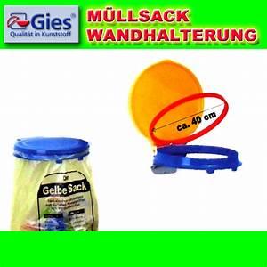 Gies gelber sack wandhalterung mullsackstander sackhalter for Halterung gelber sack