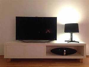 TV Bench From Lack Shelf Hiding Devices And Wires IKEA