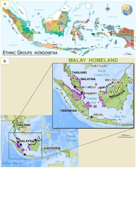 ethnolinguistic map  indonesia  ethnic groups