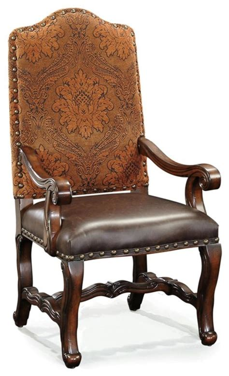 new ambella home small arm chair leather arm traditional
