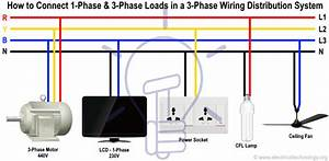 How To Connect Single Phase  U0026 Three Phase Loads In A Three