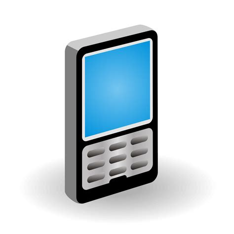 free mobile phone vector for free use 3d mobile phone icon