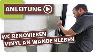 Vinyl Fliesen Bad Wand : g ste wc neu gestalten vinylboden an w nde kleben youtube ~ A.2002-acura-tl-radio.info Haus und Dekorationen