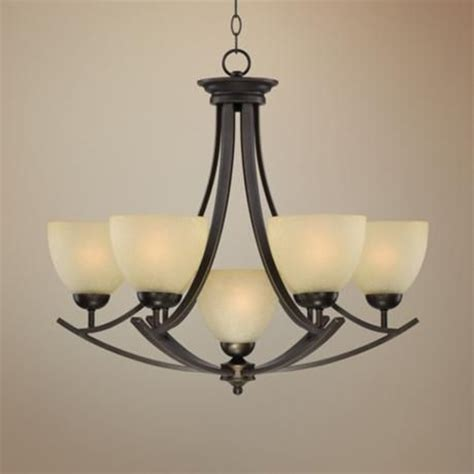 bronze 28 3 4 quot wide 7 light chandelier dining room