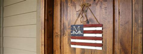 monogram paint stick flag diy rustic