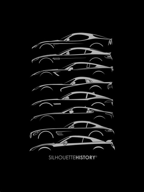 Front-engine Sports Car SilhouetteHistory Silhouettes of