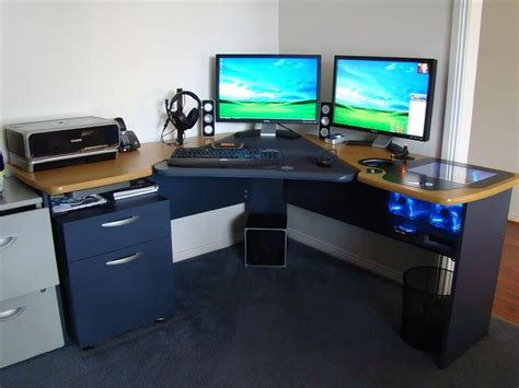 envious home computer setups computer desk design