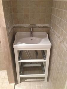 Petit Meuble Vasque : salle de bains r novation et am nagement d 39 un petit 2 pi ces ~ Edinachiropracticcenter.com Idées de Décoration