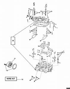 Carburetor Weber  For Mercruiser  4 3 L    4 3 Lh Alpha