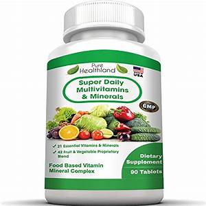 Super Daily Multivitamin For Men Women Over 40 50 60 And Seniors  Best Food Based Natural