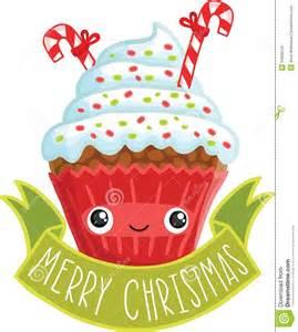 Christmas Cute Cartoon Cupcakes