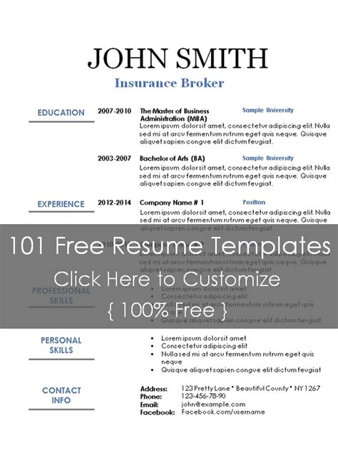 Titles For Resume Sections by Executive Resume Template