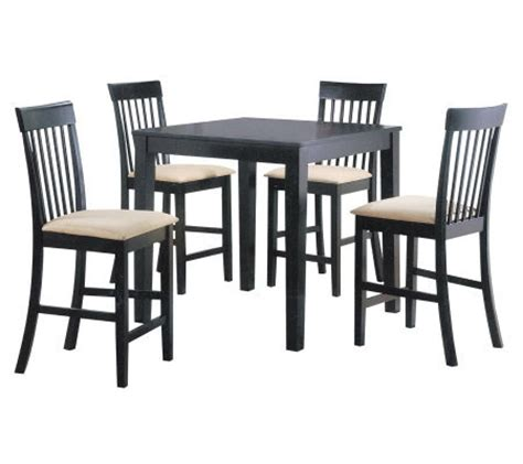 miranda 5 counter height table set by acme furniture