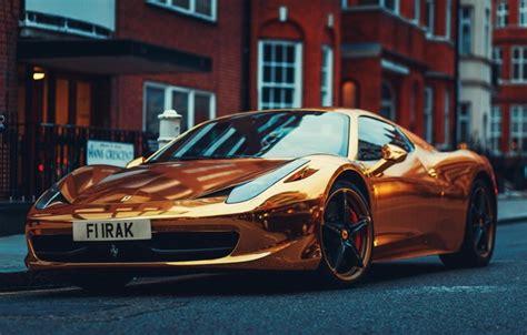 gold ferrari wallpaper wallpaper italy gold ferrari supercar 458 supercar