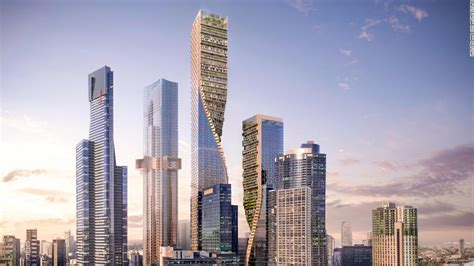 australia s tallest building green spine will ground in 2020 cnn style