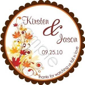 wedding stickers items similar to fall leaves wedding personalized stickers wedding stickers wedding favor